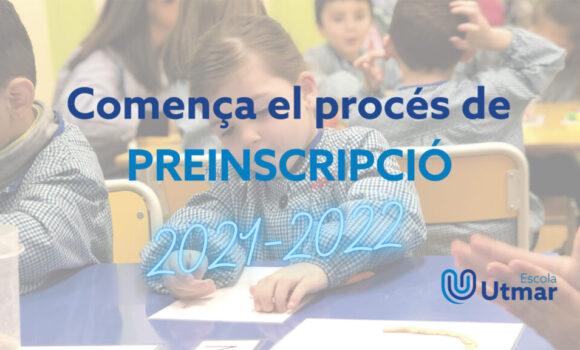 Comença la preinscripció curs 2021-2022